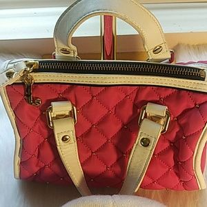 Juicy Couture Pink and White Mini Purse